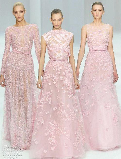 Abiti da sposa rosa con effetto 3D