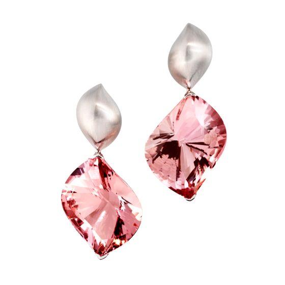 orecchini da sposa rosa