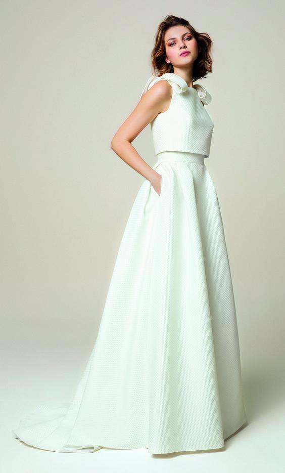 riciclare l'abito da sposa :abito da sposa due pezzi