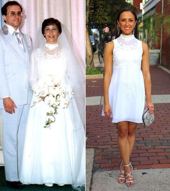 abito da sposa riciclato