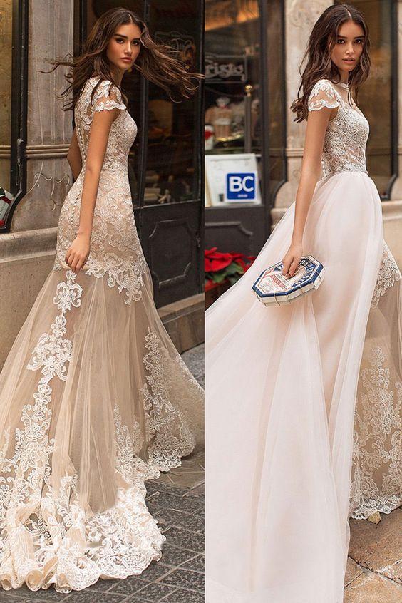 abito da sposa  con gonna  staccabile ailsabridal