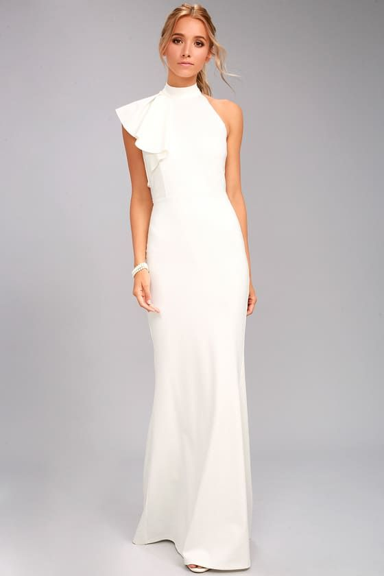 abito da sposa scivolato minimal chic