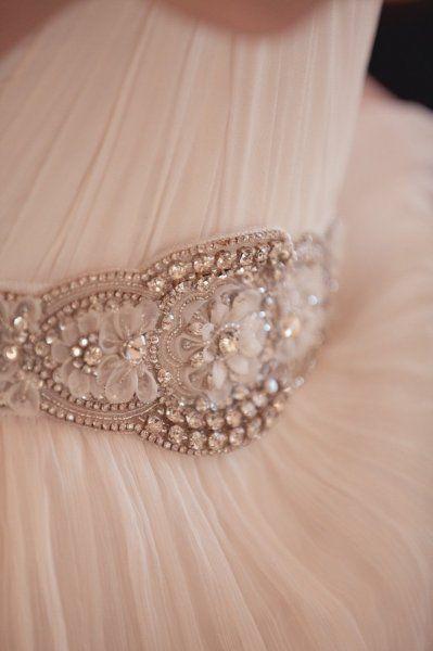 cintura da sposa in cristalli