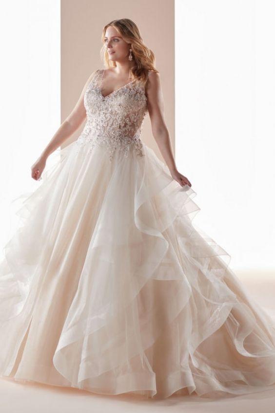 abito da sposa curvy stile princesse
