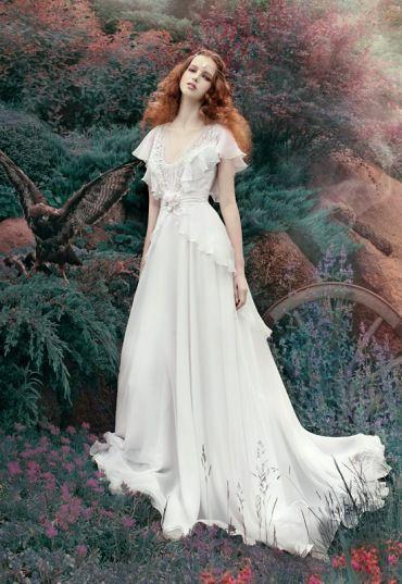 sposa stile fantasy, fate, bosco