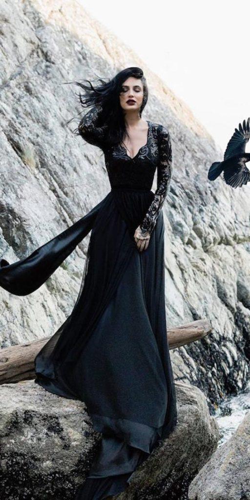 abito nero da sposa gotica dark