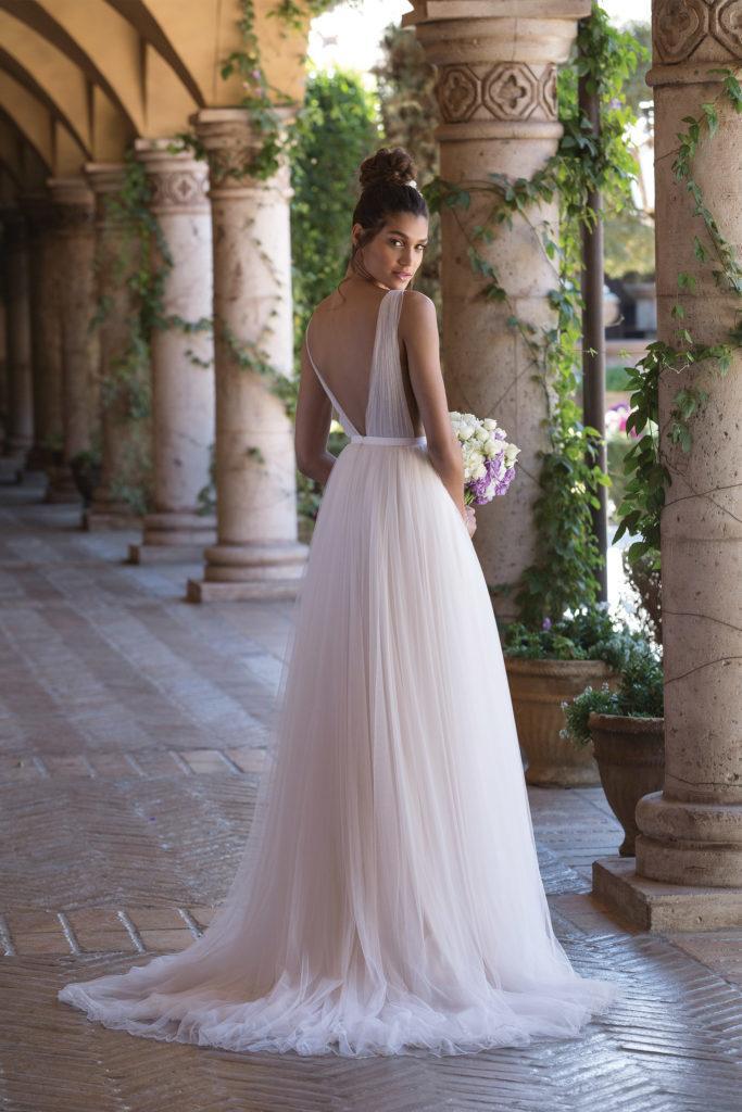 abito da sposa con plissè