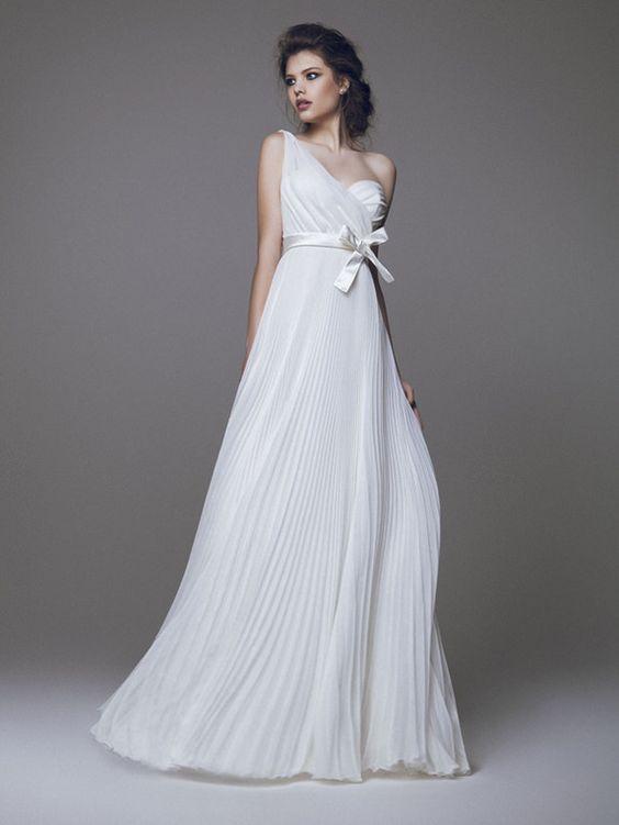 abito da sposa plssè monospalla