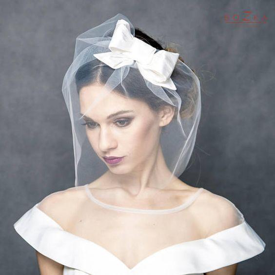 accessori sposa fai da te   veletta in tulle con fiocco
