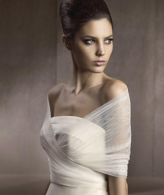 accessori sposa fai da te stola tulle morbido incrociata