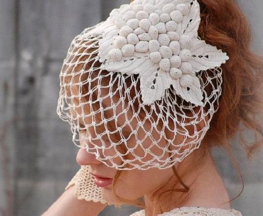 accessori sposa fai da te veletta sposa fatta ad uncinetto