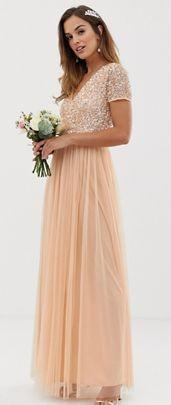 abito corto rosa damigella di nozze