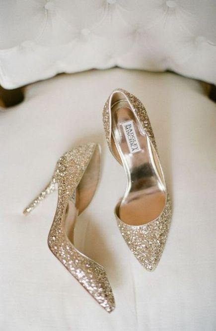 calzature sposa oro glitter