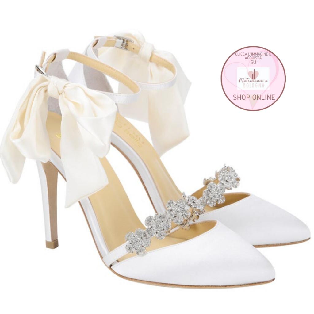 scarpe spezzate sposa Bella Belle bianche