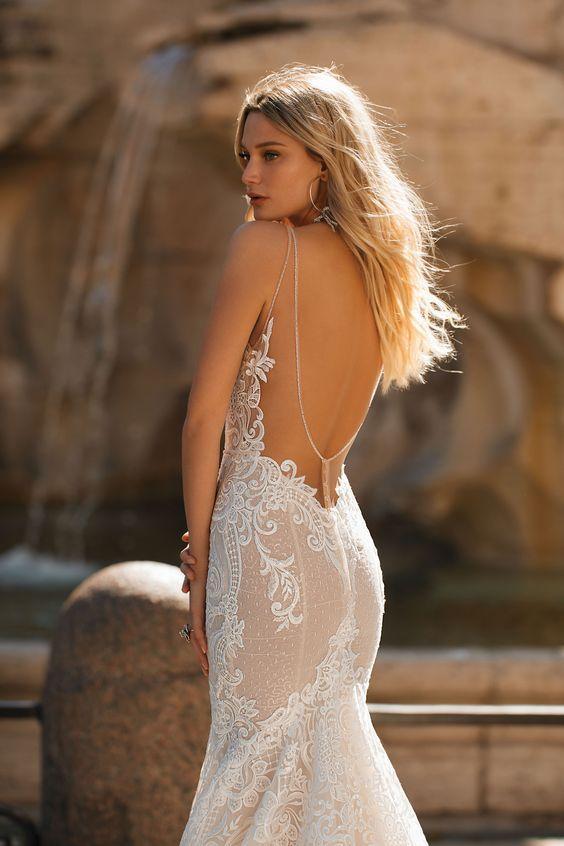 abito da sposa sexy in pizzo