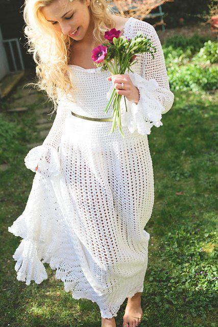 abito da sposa all'uncinetto Tracey Ann Shears