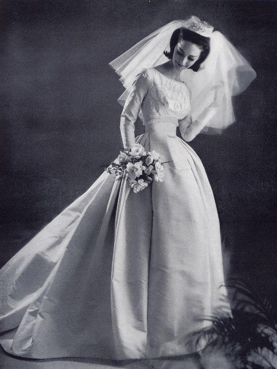 abito da sposa ampio vintage fine anni cinquanta