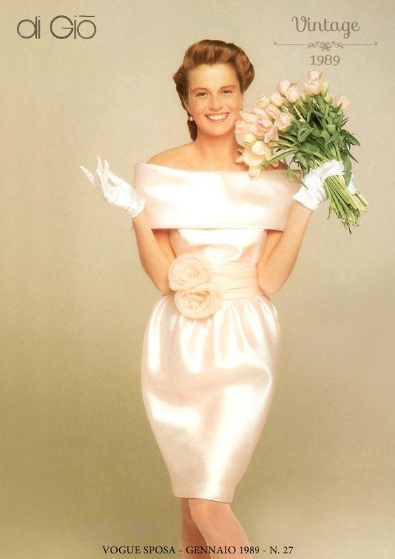 Abito  da sposa vintage corto rosa Le spose di GIò
