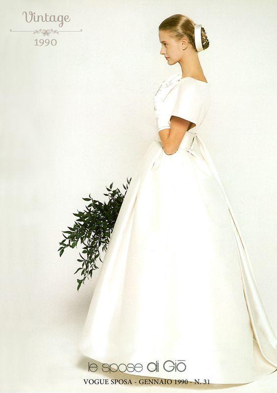 abito da sposa vintage ampio  Le spose di Giò 1990