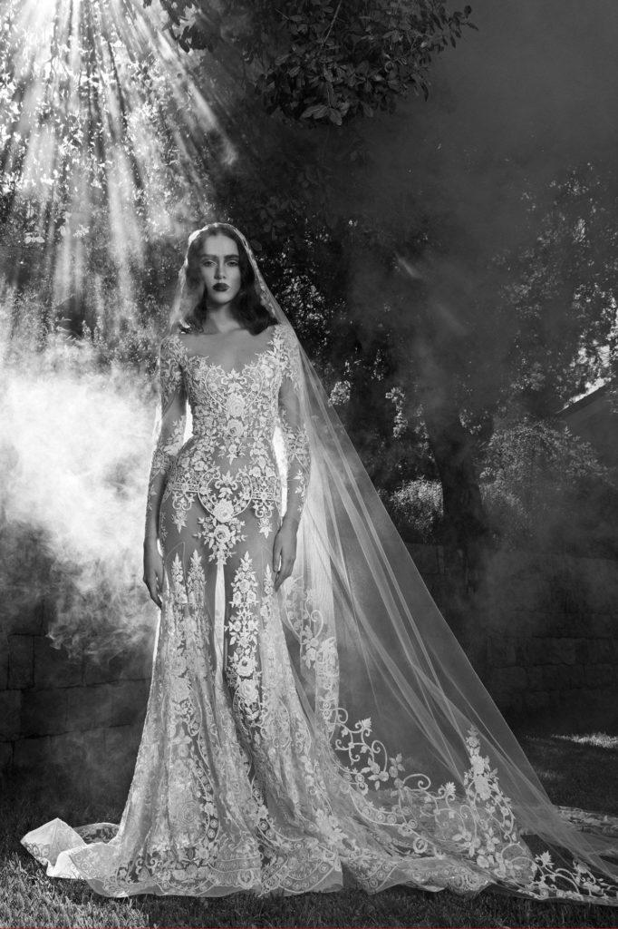 abito da sposa in pizzo a sirena Zuahir Murad