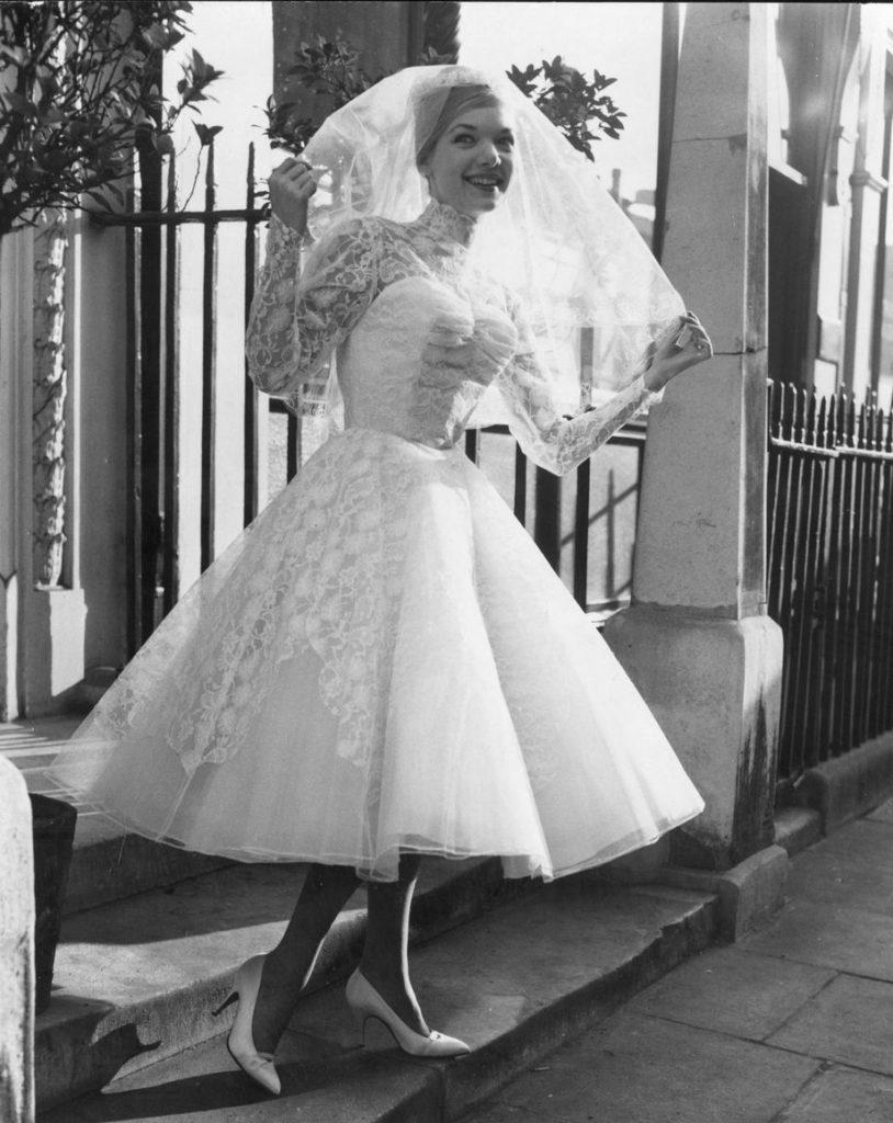Abito da sposa  vintage originale anni cinquanta