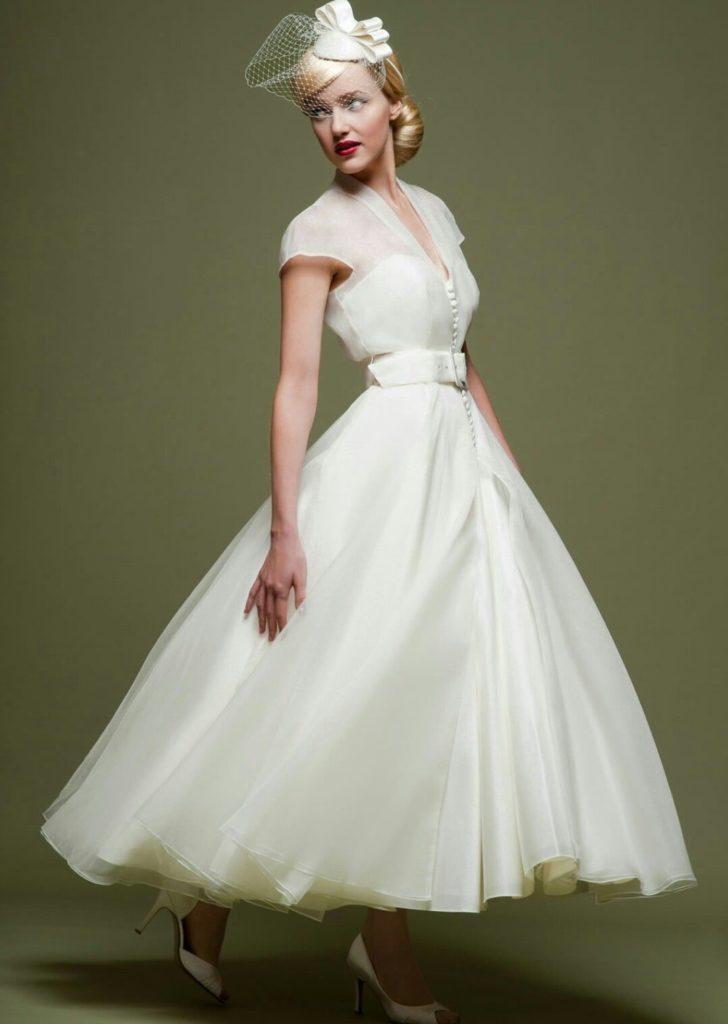 abito da sposa stile vintage anni cinquanta