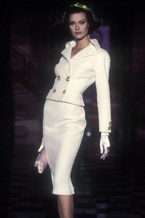 tailleur sposa con gonna  Versace vintage