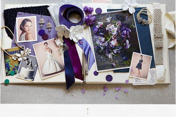 palette colori nozze tema farfalle