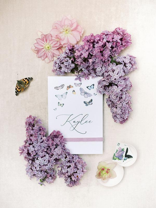 menù nozze tema farfalle