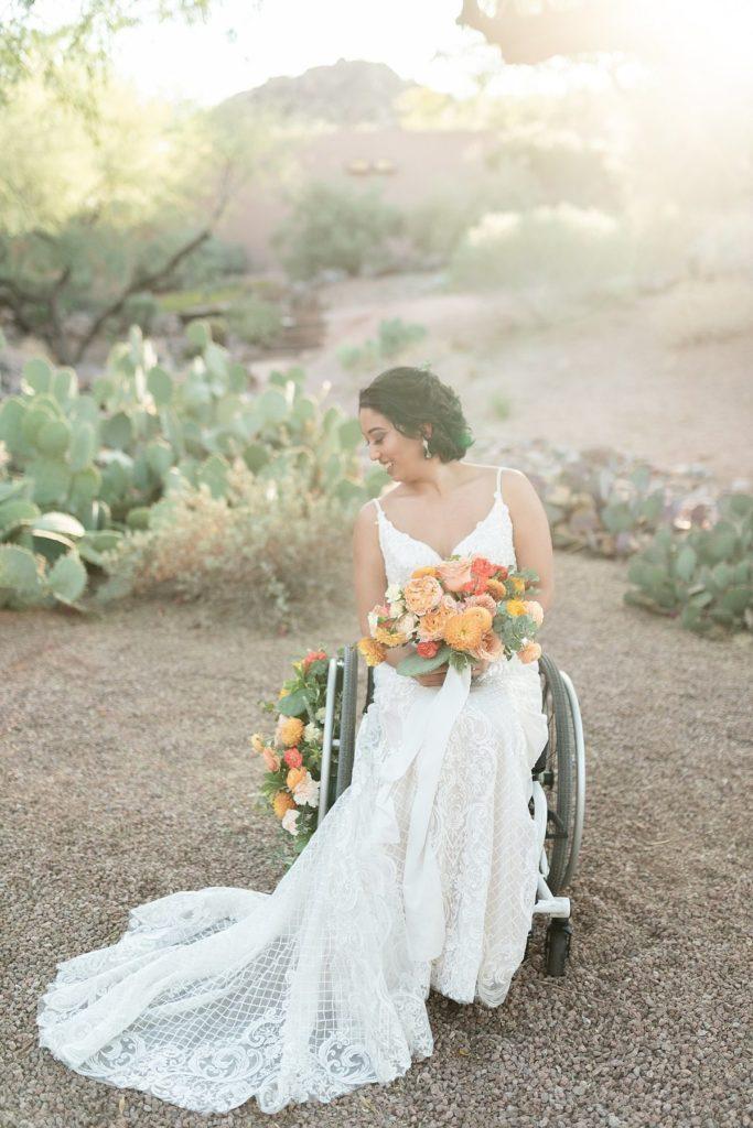 sposa disabilità ed eleganza