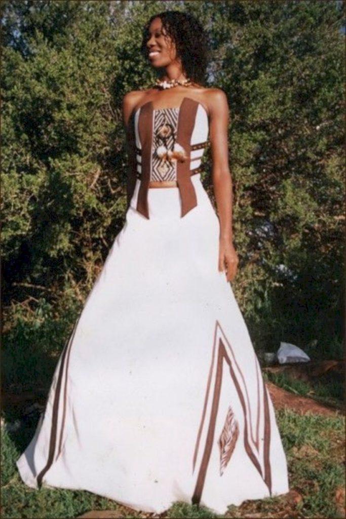 abito da sposa in stile etnico africano