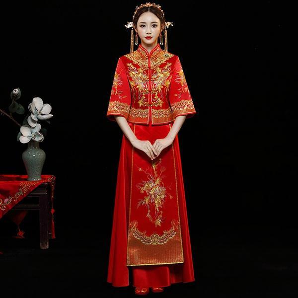 abito da sposa stile etnico cinese