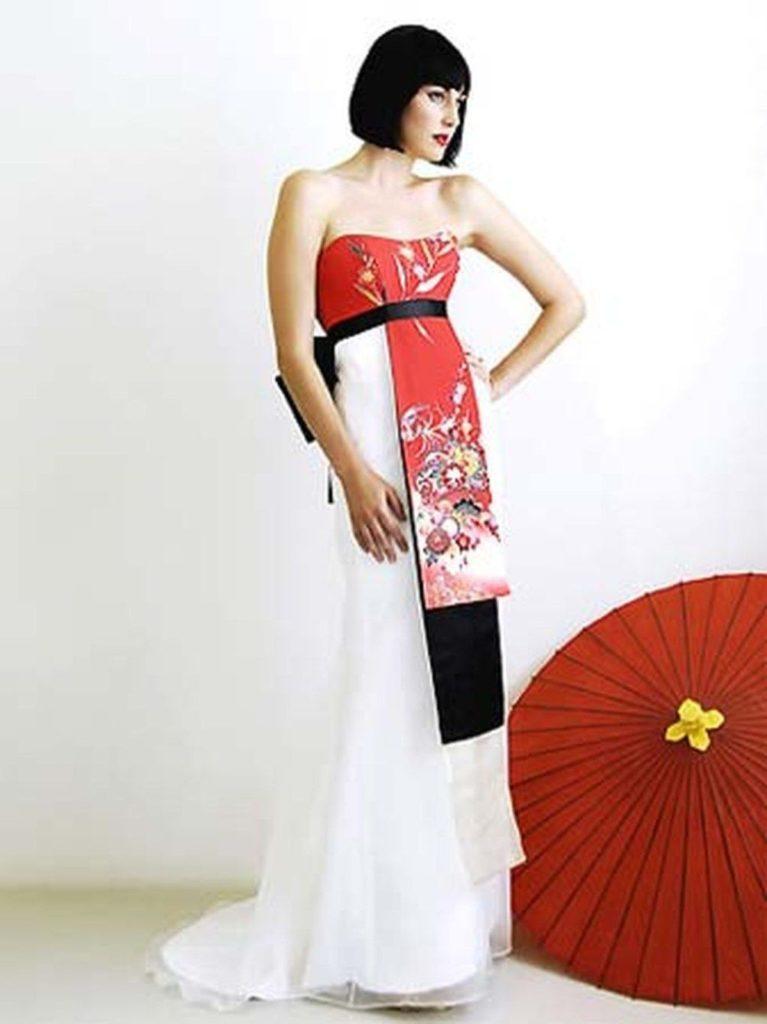 abito da sposa in stile etnico giapponese